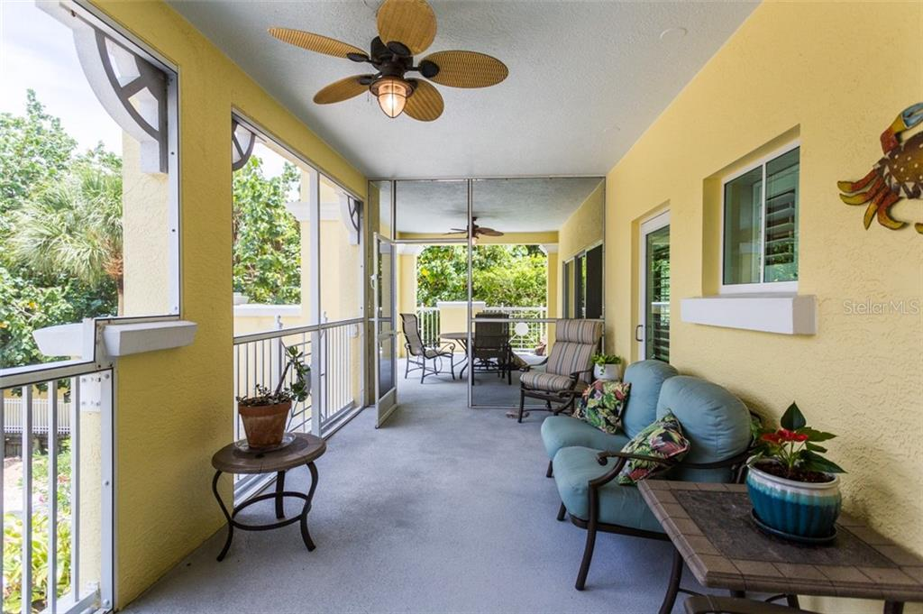 Balcony off of Master Bedroom - Condo for sale at 1308 Old Stickney Point Rd #W24, Sarasota, FL 34242 - MLS Number is A4471155