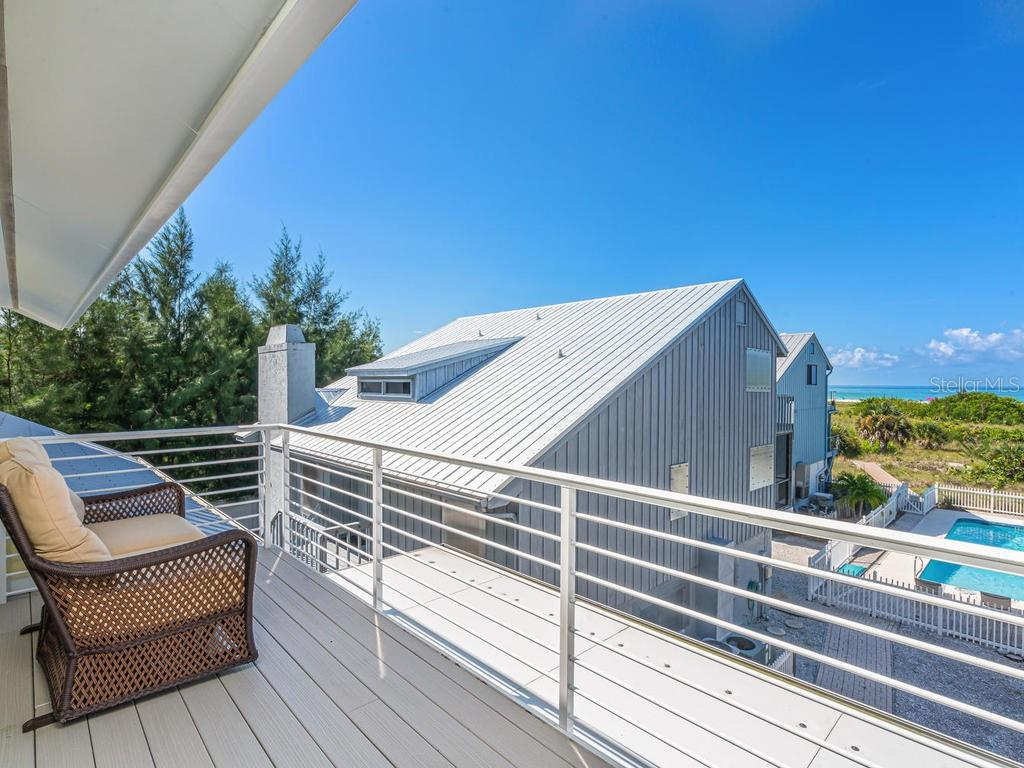 Private master bedroom balcony with beach views - Single Family Home for sale at 500 Beach Rd #1, Sarasota, FL 34242 - MLS Number is A4474527
