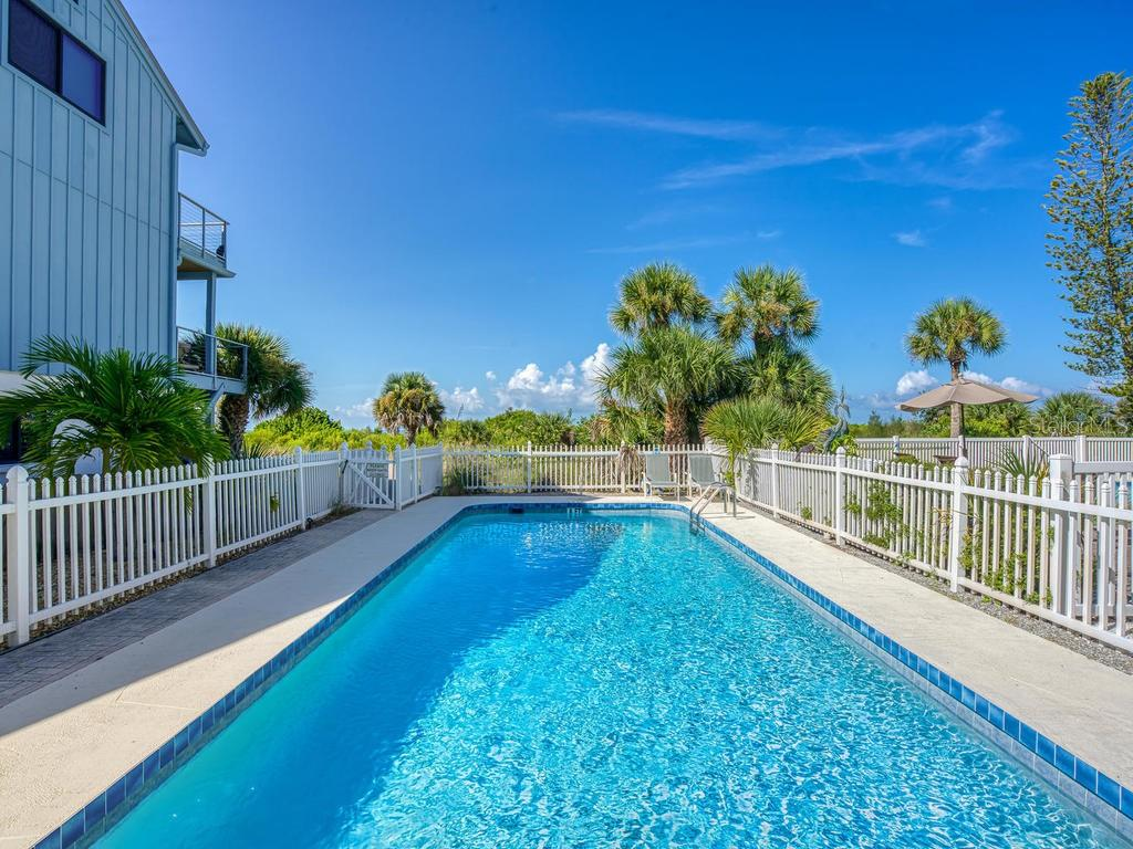 Heated 3 houses community pool with beach access - Single Family Home for sale at 500 Beach Rd #1, Sarasota, FL 34242 - MLS Number is A4474527