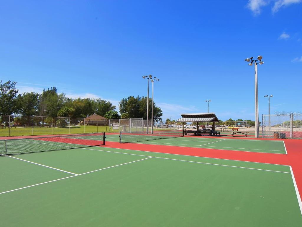 Public tennis courts at Siesta Key Beach - Single Family Home for sale at 500 Beach Rd #1, Sarasota, FL 34242 - MLS Number is A4474527