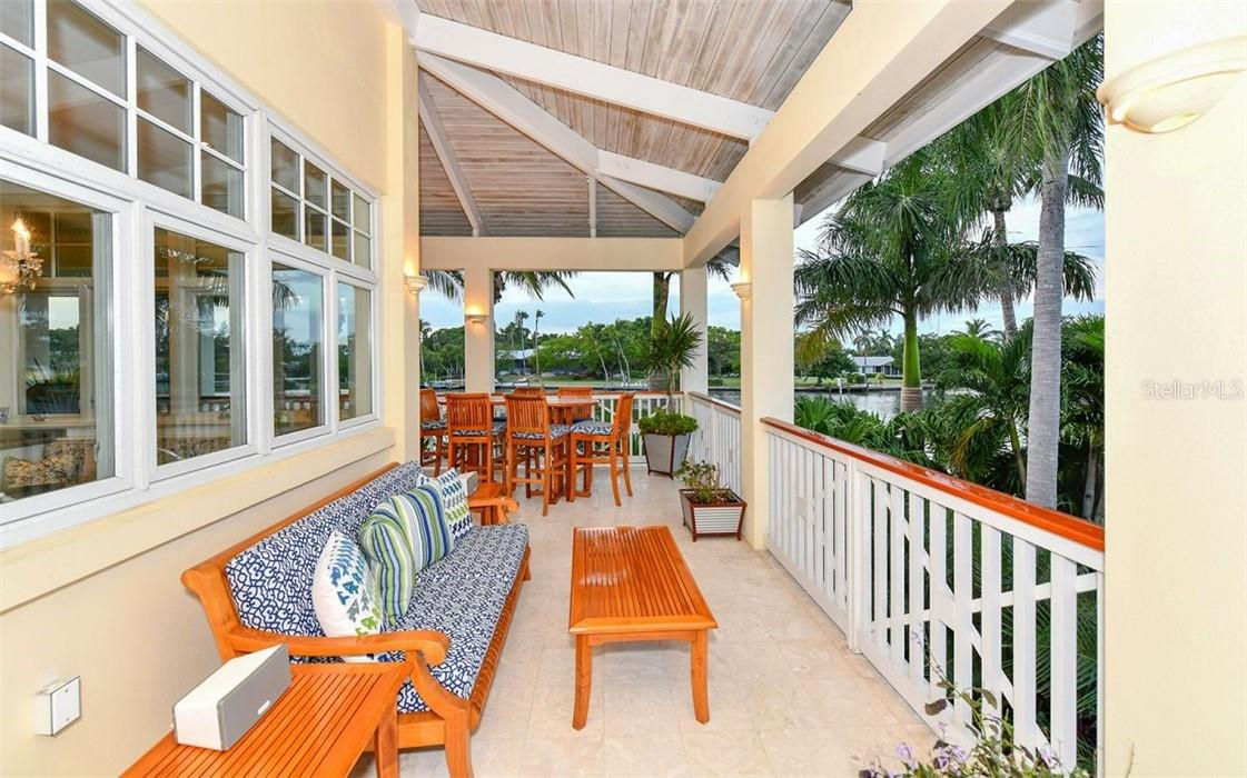 outside porch by kitchen - Single Family Home for sale at 612 Juan Anasco Dr, Longboat Key, FL 34228 - MLS Number is A4475444