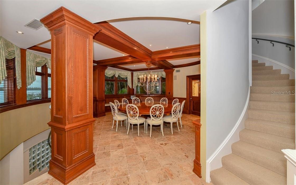 Dining and stairs to office - Single Family Home for sale at 612 Juan Anasco Dr, Longboat Key, FL 34228 - MLS Number is A4475444
