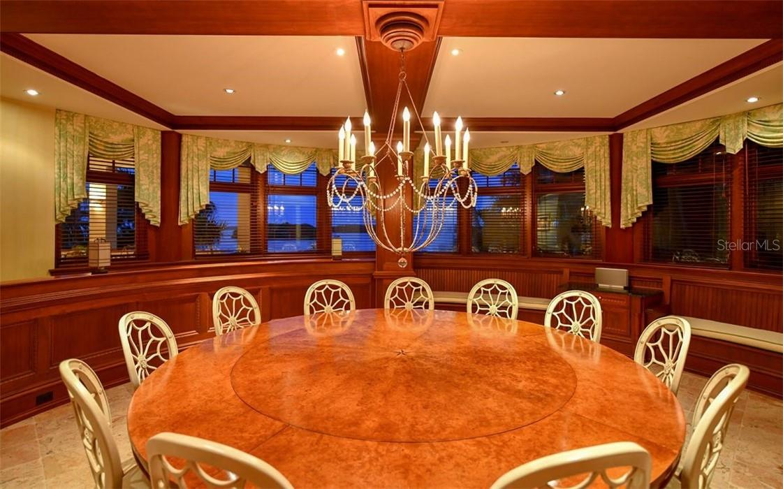 Dining Room - Single Family Home for sale at 612 Juan Anasco Dr, Longboat Key, FL 34228 - MLS Number is A4475444