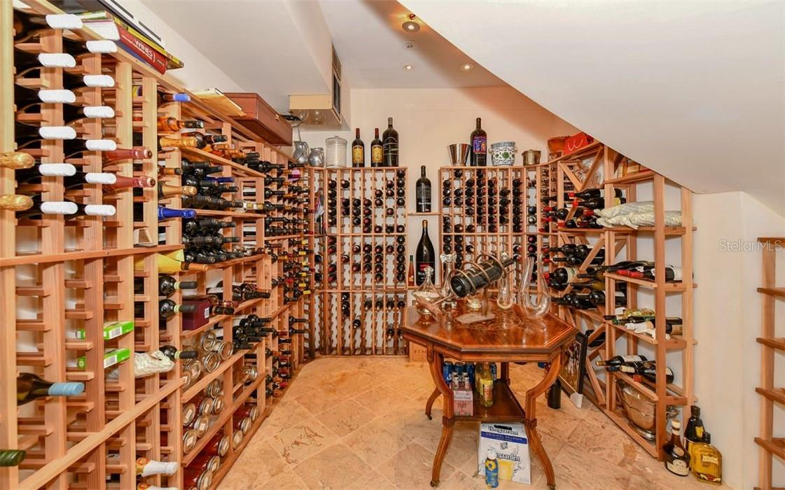 Wine room - Single Family Home for sale at 612 Juan Anasco Dr, Longboat Key, FL 34228 - MLS Number is A4475444