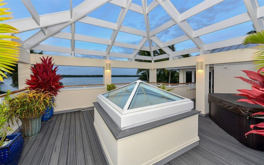 upstairs porch by office and hot tub - Single Family Home for sale at 612 Juan Anasco Dr, Longboat Key, FL 34228 - MLS Number is A4475444