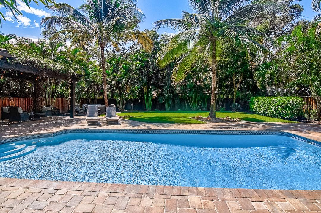 Spacious backyard with pool - Single Family Home for sale at 1839 Buccaneer Ct, Sarasota, FL 34231 - MLS Number is A4479580