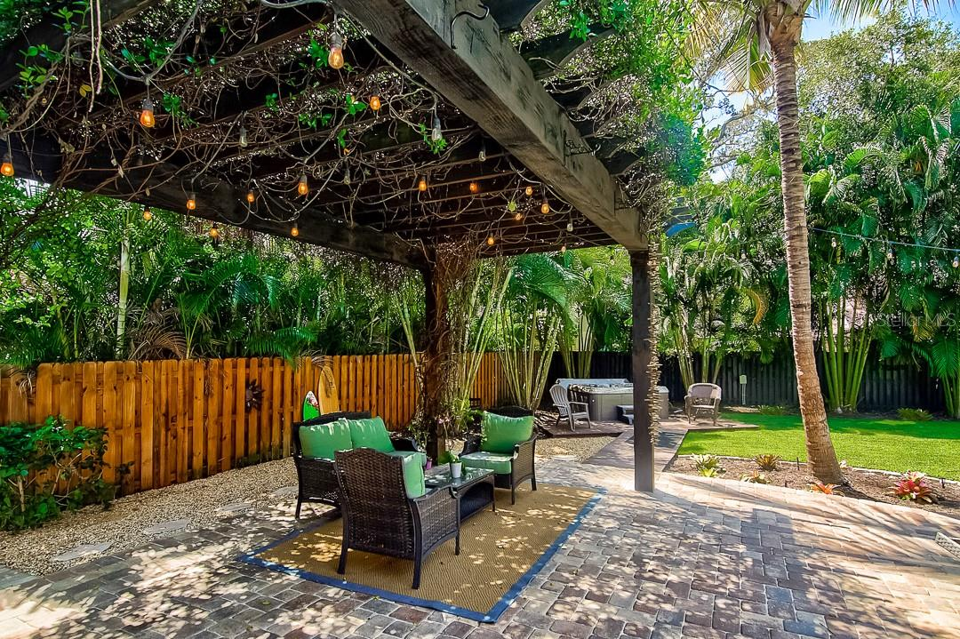 Gorgeous pergola - Single Family Home for sale at 1839 Buccaneer Ct, Sarasota, FL 34231 - MLS Number is A4479580