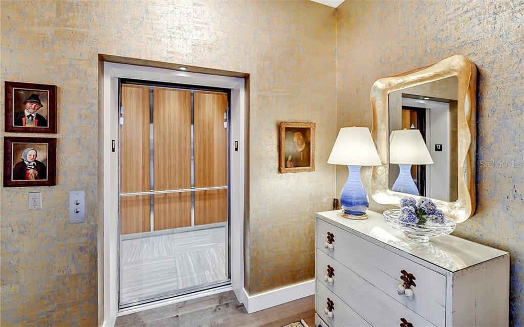 The elevator opens to your private foyer - Condo for sale at 1155 N Gulfstream Ave #1701, Sarasota, FL 34236 - MLS Number is A4480090