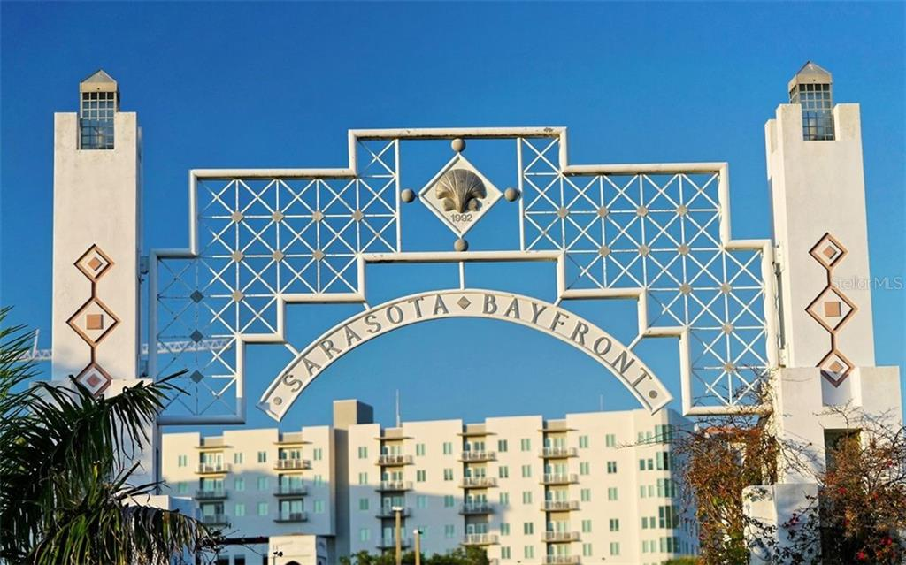 The entrance to Bayfront Park - Condo for sale at 1155 N Gulfstream Ave #1701, Sarasota, FL 34236 - MLS Number is A4480090