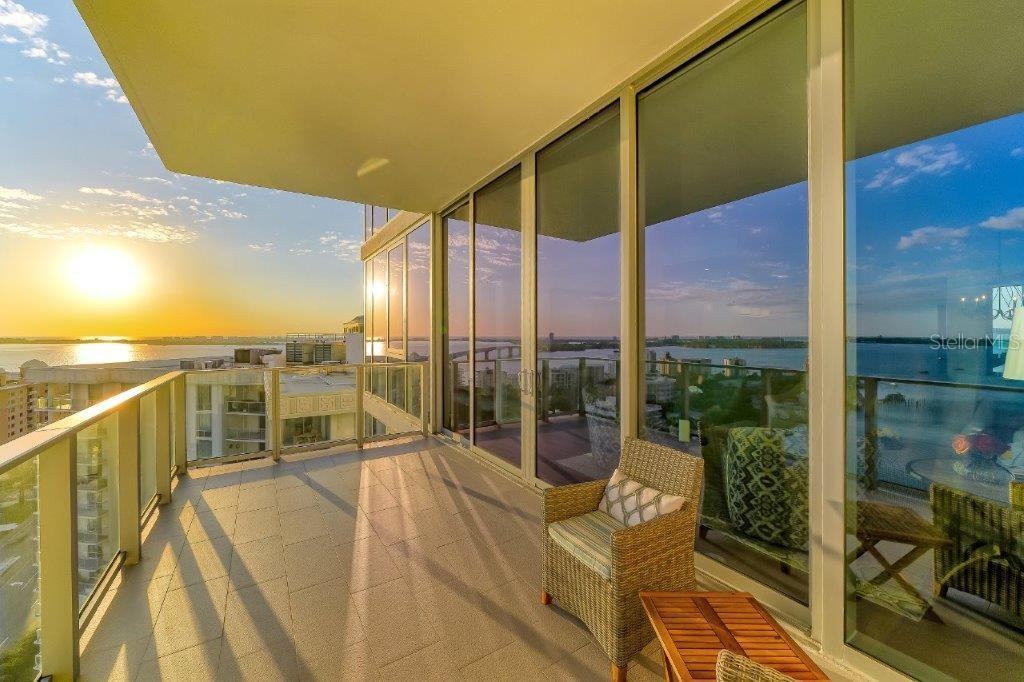 The sunset from your own balcony - Condo for sale at 1155 N Gulfstream Ave #1701, Sarasota, FL 34236 - MLS Number is A4480090