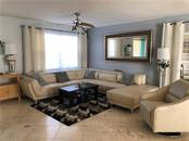Living room with beautiful travertine tile - Townhouse for sale at 3434 51st Avenue Cir W, Bradenton, FL 34210 - MLS Number is A4454154