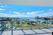 View from massive 30' x 10' terrace - Condo for sale at 1155 N Gulfstream Ave #507, Sarasota, FL 34236 - MLS Number is A4458926