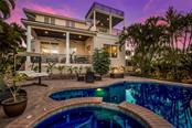 Evening by the pool. - Single Family Home for sale at 443 S Polk Dr, Sarasota, FL 34236 - MLS Number is A4459240
