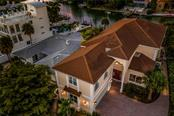 Entry, aerial view. - Single Family Home for sale at 443 S Polk Dr, Sarasota, FL 34236 - MLS Number is A4459240