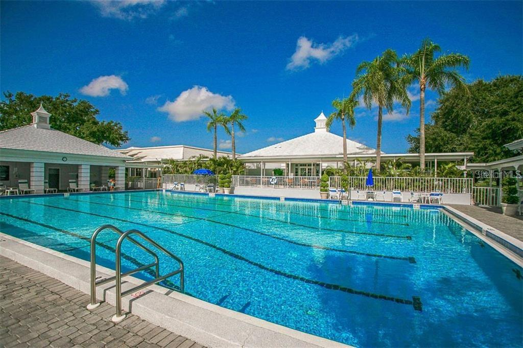 Huge Jr olympic size lap pool at Plantation Golf and Country Club - Condo for sale at Address Withheld, Venice, FL 34293 - MLS Number is N6109324