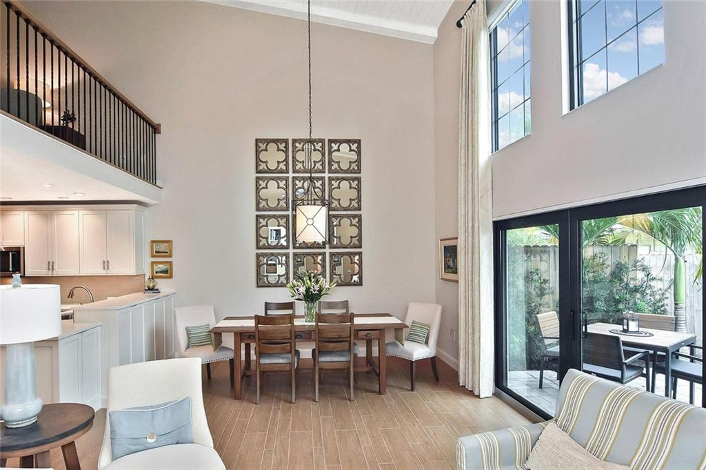 Living room to dining area - Condo for sale at 448 Palmetto Ct #B5, Venice, FL 34285 - MLS Number is N6109553