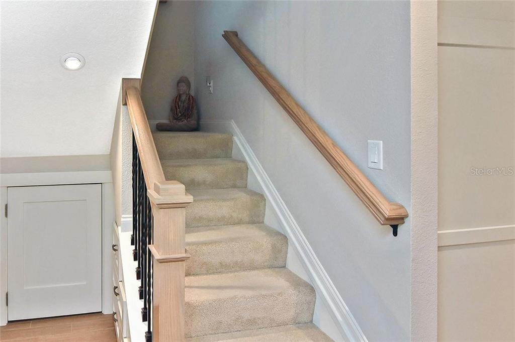 Stairs to loft and master bedroom - Condo for sale at 448 Palmetto Ct #B5, Venice, FL 34285 - MLS Number is N6109553