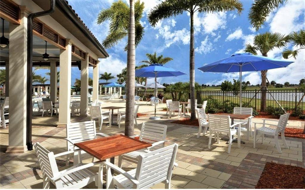 tiki bar & outdoor dining at pool - Single Family Home for sale at 23793 Waverly Cir, Venice, FL 34293 - MLS Number is N6112352
