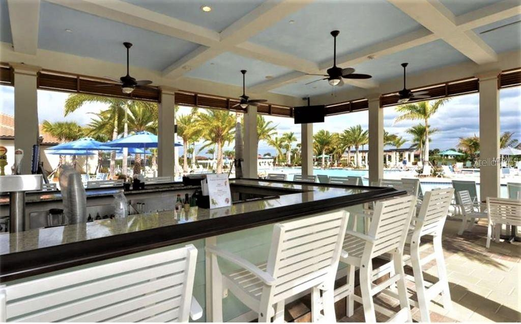 tiki bar at pool - Single Family Home for sale at 23793 Waverly Cir, Venice, FL 34293 - MLS Number is N6112352