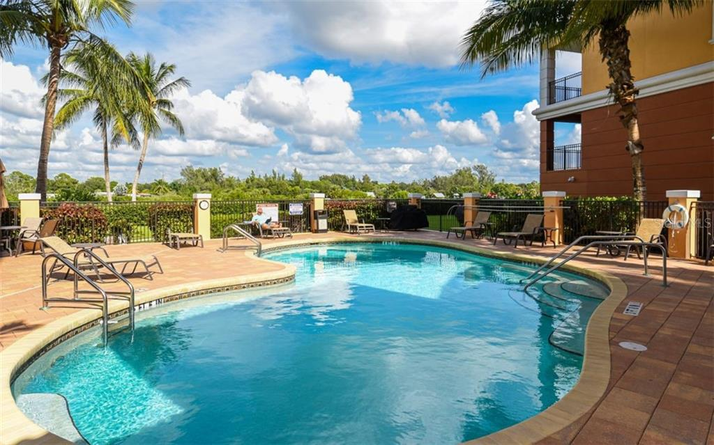 Heated community pool - Condo for sale at 167 Tampa Ave E #313, Venice, FL 34285 - MLS Number is N6112536
